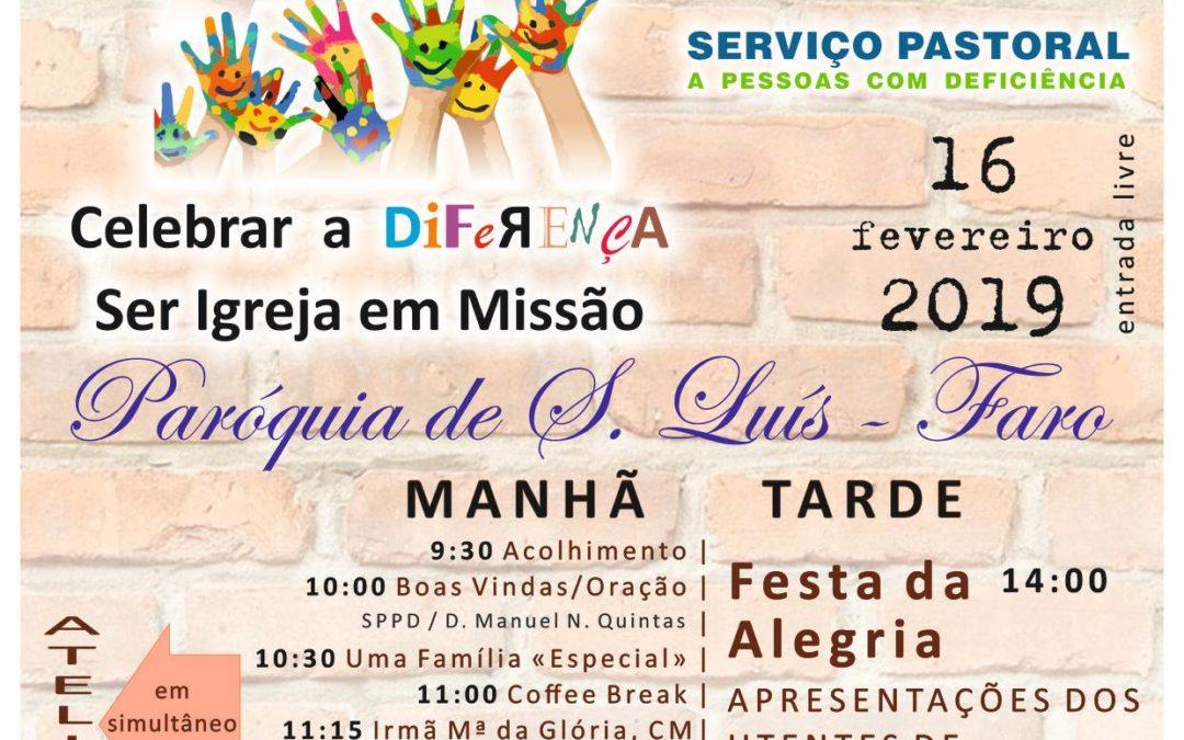 """VI Jornadas SPPD – Algarve – """"Celebrar a Diferença, Ser Igreja em Missão"""" (16/02/2019)"""