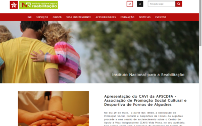 Instituto Nacional para a Reabilitação lança novo Portal na Internet