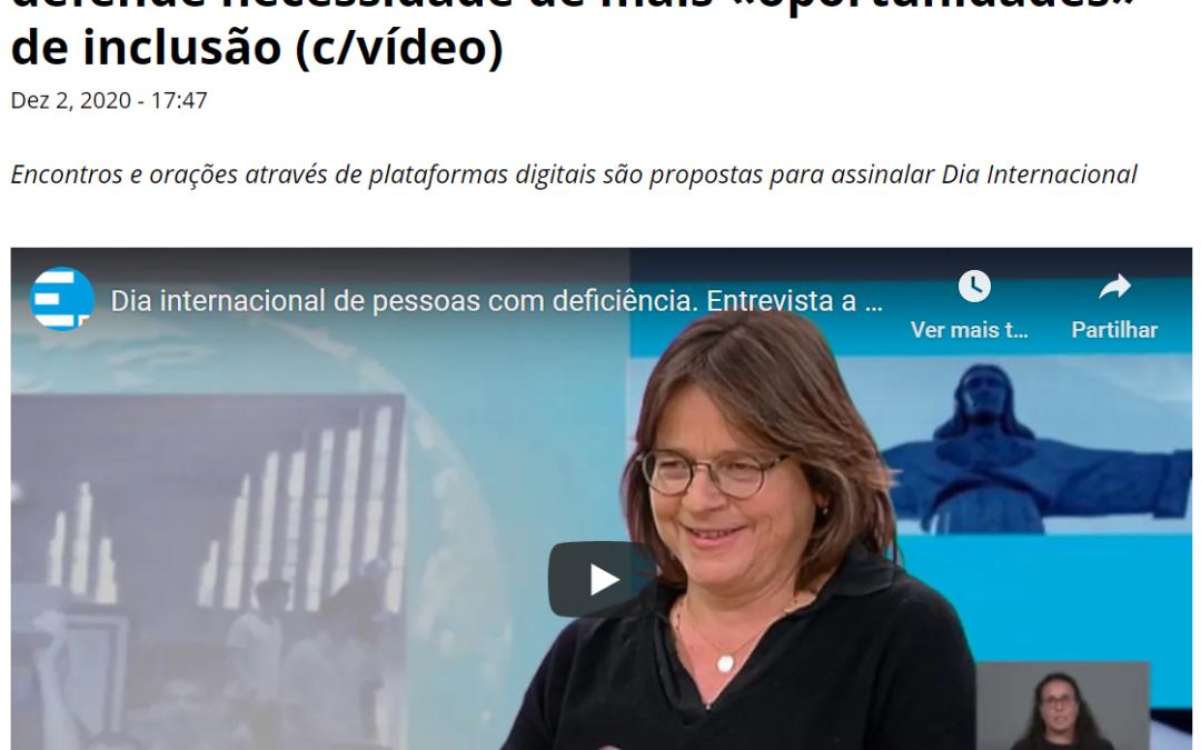 Entrevista da coordenadora do SPPD do Patriarcado de Lisboa à Agência Ecclesia