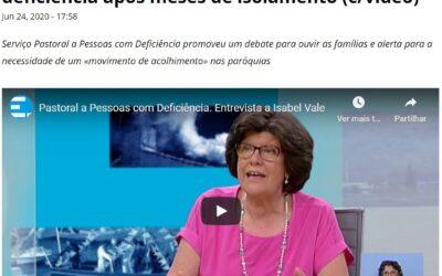 Covid19 e Deficiência: Debate online e entrevista a Isabel Vale