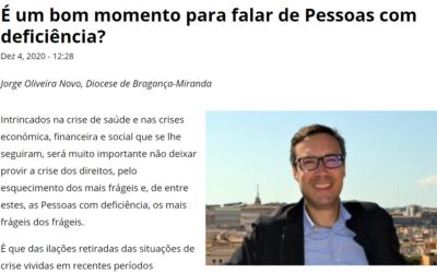 Texto do diretor do SPPD Bragança Miranda na Agência Ecclesia
